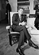 Art Print Poster / Canvas John F. Kennedy In His Rocking Chair