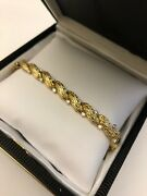 Stunning Vintage 18k Gold And Diamond Bracelet 1970and039s
