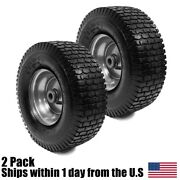 2pk 13x5.00-6 Turf Tire And Rim Assembly For Lawn And Garden Tractors Golf Carts