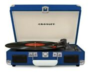 Crosley Cr8005d Deluxe Cruiser Portable Bluetooth Turntable Record Player Blue