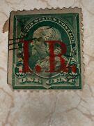 U.s. Postage W/1898 Stamp One Cent Benjamin Franklin Rare. First Stamp Only