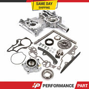 High Performance Timing Chain Kit Oil Pump Timing Cover For 85-95 Toyota 22r 2.4