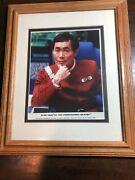 George Takei Autographed 8x10 Photo Display Framed And Matted Star Trek Vi 1991