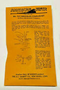 American Flyer 521 Knuckle Coupler Kitinstructions On Bag6 Pair Couplers..k2