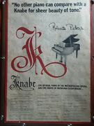 Sighned Raberta Peters/knabe Piano Poster Orriginal Ny Met Collectable Rare