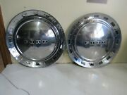 Vintage Pair Of 1952 Ford Deluxe Hubcaps