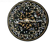 24 Round Coffee Table Top Floral Marquetry Collectible Inlay Patio Decors B007