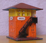 N Scale Building Signal Tower Life-like Bristol Orange And Yellow Built Exc