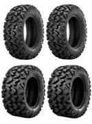 Complete Set Of Sedona Rip-saw R/t Tires - 2008 Arctic Cat 700 H1 Prowler 4x4
