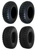 New Complete Set Of Gbc Mongrel Tires - 2004-2005 Can-am Outlander 400 H.o. 2x4