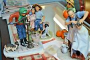 Norman Rockwell Gorham Set Of 4 Porcelain Figurines Going On 16 Four Seasons
