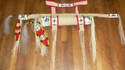 Native American Lakota Inspired Brain Tanned Leather Beaded Bow Case And Quiver