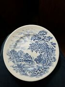 Vintage China Enoch Wedgewood And Co Countryside Dinner Plate Blue White Saucer