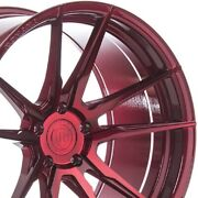 4 20 Staggered Rohana Rfx2 20x10 20x12 Red Concave Wheels Forged Rims A3
