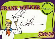 Scooby Doo Mysteries And Monsters Frank Welker As Fred Jones A4 Auto Card
