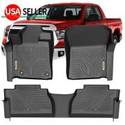 3d Floor Mats Liners For 2014-2021 Toyota Tundra Double Crew Cab All Weather