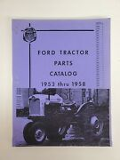 Ford Tractor Parts Catalog 1953-1958 Naa-961 Models