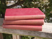 Antique Set Of 3 Books Les Miserables 1887 Victor Hugo Volumes 3 , 4 And 5