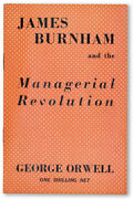 George Orwell-james Burnham And The Managerial Revolution 1946-1st Ed-fine Copy