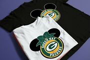2021 New Disney Green Pay Packers Family Vacation T-shirts