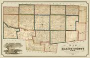 Marion County Ohio - Brown 1852 - 23.00 X 35.58