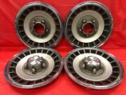 Vintage Set Of 4 1979andndash90 Ford 15andrdquo Hubcaps F150 Bronco 4x4 Good Condition