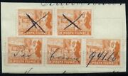 ✔️ Fiume 1919. 1c Five Unissued Stamps Sass 58 As Revenue Rarest Cv Andeuro1.500