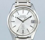 Citizen Chronomaster Date Hods2901-y Silver Dial Manual Vintage Watch 1968and039s