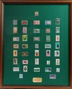 Two Glass-framed Stamp Collections
