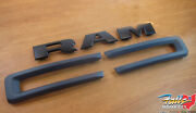 2019-2021 Ram 2500 3500 4500/5500 Black Front Grille Ram Nameplate And Trim Kit