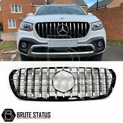 For Mercedes X-class Amg Panamerica Style Front Grille Chrome Black Grill 470