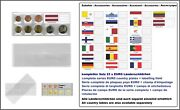 1000 Look 1-k7es-let Coin Pockets Euro-course-coins-sets + Latvia Flags