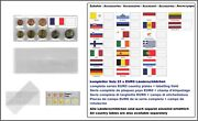 1000 Look 1-k7es-fra Coin Pockets Euro-course-coins-sets + France Flags