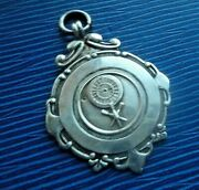 Sterling Silver Darts Fob Medal H/m 1947 Fattorini And Sons  -  Not Engraved