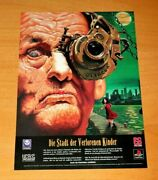 1995 The City Of Lost Children Ps1 Playstation German Vintage Promo Poster Ad