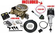 Holley Sniper 550-851k Efi 2300 Self-tuning Master Gold With 565-202 And 558-493