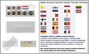 1000 Look 1-k7es-lux Coin Pockets Euro-course-coins-sets + Luxembourg Flags