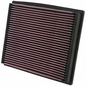 Kandn 33-2125 For Audi A4 B5 Washable Reusable High Flow Drop In Panel Air Filter