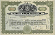 New York 1931 Pathe Exchange Inc Stock Certificate Early Movie Producer Abn