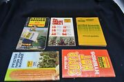 Lot Of 4 Lester Pfister Seedcorn Advertising Notebooks And Pfizer Gold Book Seed