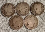 Mostly Silver Coin Lot Of Barber Quartersdimesnickels And Other Silver Coins