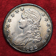 1832-p Capped Bust 50c Small Letters O-117 Ngc Unc Srs R4+ Sale 25