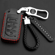 10 Pcs Leather Car Key Fob Case Cover Bag For Acura Tl Rdx Zdx Ilx Accessories