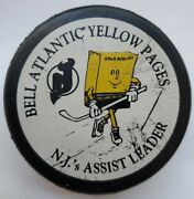 Pen Marks New Jersey Devils Bell Atlantic Yellow Pages Official Nhl Puck