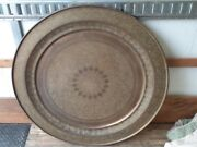Antique Super Large Islamic Arabic Brass Middle Eastern Tray