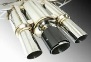 Remark 3 In Piping Black Chrome Ss Catback Exhaust For 17-18 Honda Civic Type R