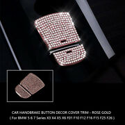 1pcs Bling Diamond Parking Electronic Handbrake Auto Hold P Button Cover For Bmw