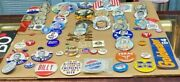 Political Button Pin Lot Over 80 Items