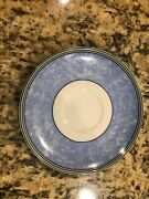 Wedgwood Home Saucer Plate Watercolour Blue Green Fine Porcelain Portugal 1995