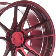 4 20x9 20x12 Staggered Rohana Wheels Rfx2 Red Concave Rims A4